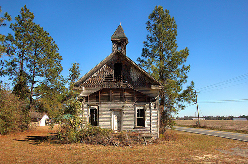 Ezekiel New Congregational Methodist Church Carpenter Gothic Victorian Influenced Architecture Abandoned Beyond Repair Picture Image Photograph © Brian Brown Vanishing South Georgia USA 2013