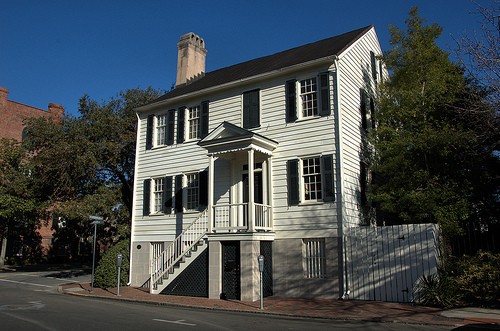 Francis M. Stone House Savannah GA Columbia Square One of Savannah's Best Federal Style Architecture Homes Picture Image Photograph © Brian Brown Vanishing South Georgia USA 2013