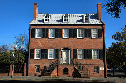 Isaiah Davenport House Savannah GA Restoration Impetus for Savannah's Preservation Movement Picture Image Photograph © Brian Brown Vanishing South Georgia USA 2013