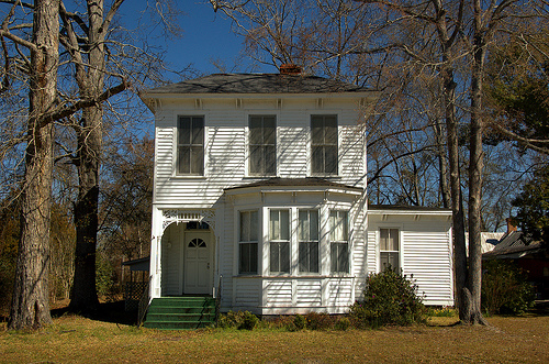 Lumber City GA Telfair County Greek Revival Italianate Architecture Landmark House One of Three Side by Side Picture Image Photograph © Brian Brown Vanishing South Georgia USA 2013