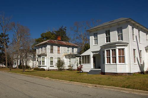 Lumber City GA Telfair County Greek Revival Italianate Architecture Landmark Houses Triplets Church Street Picture Image Photograph © Brian Brown Vanishing South Georgia USA 2013