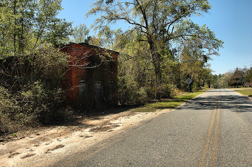 Charlotteville GA Montgomery County Ghost Town Miss Ila Mae's Abandoned Country Store Arched Front Doorway Picture Image Photograph © Brian Brown Vanishing South Georgia USA 2013
