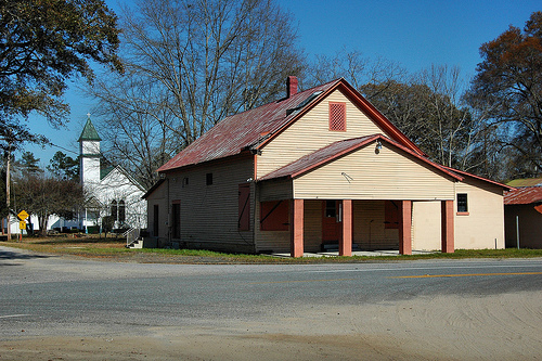 Egypt GA Effingham County Old Country Store Grocery Baptist Church Ghost Town Americana Picture Image Photograph © Brian Brown Vanishing South Georgia USA 2013