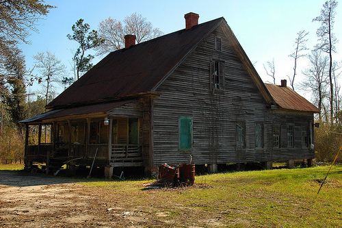 Egypt GA Effingham County Vernacular Architecture Old House Ghost Town Picture Image Photograph © Brian Brown Vanishing South Georgia USA 2013