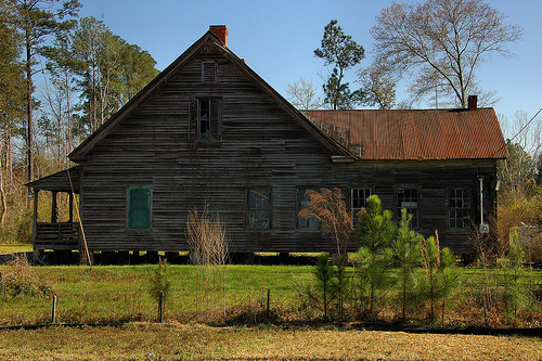 Egypt GA Effingham County Vernacular Architecture Old House Picture Image Photograph © Brian Brown Vanishing South Georgia USA 2013