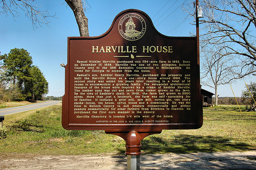 Keebler Henry Harville House Historic Marker County Historical Society Averitt Family Bulloch County GA Landmark Vernacular Folk Victorian Architecture Picture Image Photograph © Brian Brown Vanishing South Georgia USA 2013