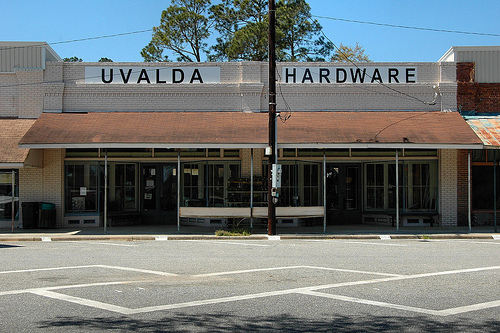 Uvalda GA Montgomery County Hardware Store Small Town Americana Independent Business Storefront Picture Image Photograph © Brian Brown Vanishing South Georgia USA 2013