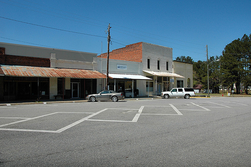 Uvalda GA Montgomery County Storefronts Downtown Picture Image Photograph © Brian Brown Vanishing South Georgia USA 2013