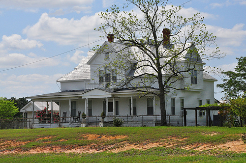 Bulloch County GA US Highway 301 Landmark Folk Victorian Eclectic House Architecture Dormers Picture Image Photograph © Brian Brown Vanishing South Georgia USA 2013