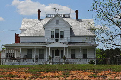 Bulloch County GA US Highway 301 Landmark Folk Victorian Eclectic House Architecture Picture Image Photograph © Brian Brown Vanishing South Georgia USA 2013