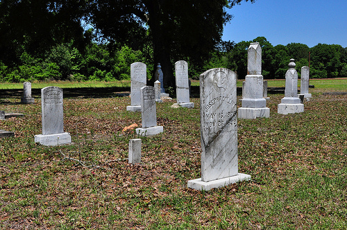 Graham GA Methodist Cemetery Late 19th Century Headstones Picture Image Photograph © Brian Brown Vanishing South Georgia USA 2013