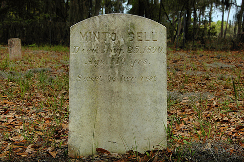 Minto Bell Bilali Mohamet Muhammed Daughter Headstone Behavior Cemetery Sapelo Island GA Picture Image Photograph © Brian Brown Vanishing South Georgia USA 2013