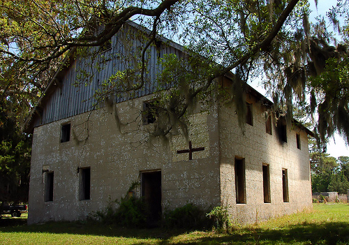 Sapelo Island GA Tabby Barn Built by Thomas Spalding 1837 Restored by Howard Coffin 1926 Chocolate Plantation McIntosh County Picture Image Photograph © Brian Brown Vanishing South Georgia USA 2013