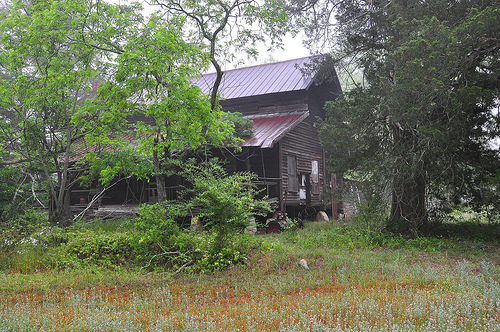 Ben Hill County GA Early Vernacular Architecture Pioneer Farmhouse Picture Image Photograph © Brian Brown Vanishing South Georgia USA 2013