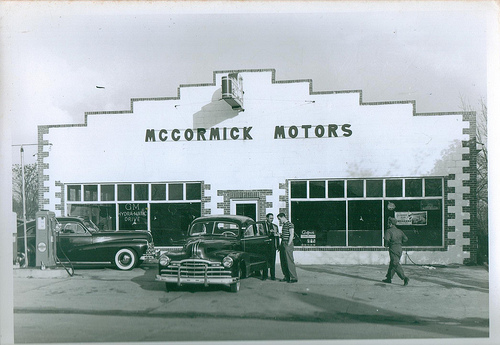 Fitzgerald GA Ben Hill County McCormick Motors Pontiac Dealership 1948 Fitzgerald Hurricane Star Running Back Lauren Hargrove Picture Image Photo © Collection of Brian Brown Vanishing South Georgia USA 2013