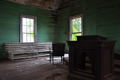 Young's Chapel Methodist Church Ben Hill County GA Interior Endangered Landmark Picture Image Photograph © Brian Brown Vanishing South Georgia USA 2013