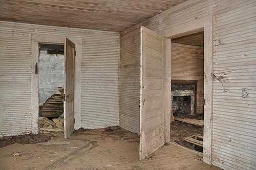 Abandoned farmhouse interior turner county vanishing - Tongue and groove interior walls ...