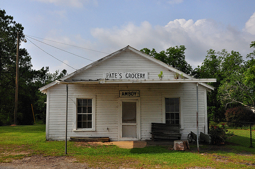 Amboy GA Pate's Grocery Hand Painted Sign Ghost Town Picture Image Photograph © Brian Brown Vanishing South Georgia USA 2013