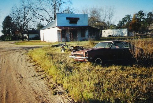 Mystic GA Irwin County Ghost Town Abandoned Car Ashley Parrish Store Dirt Stree Film Photograph Brian Brown Vanishing South Georgia 2008