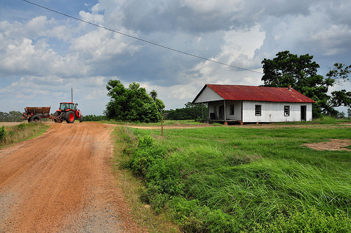 Turner County GA Out in the Country Near Amboy Williford Freeman Road Tractor Summer Picture Image Photograph © Brian Brown Vanishing South Georgia USA 2013