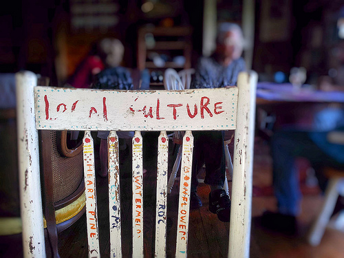 Folk Art Straight Chair Local Culture Community Sense of Place Red Earth Farm Gathering Picture Image Android Photograph © Brian Brown Vanishing South Georgia USA 2013