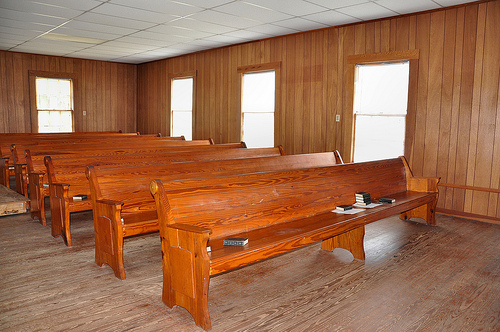 Lower Black Creek Baptist Church Antebellum Landmark 1859 Interior Pews Bryan County GA Picture Image Photograph © Brian Brown Vanishing South Georgia USA 2013