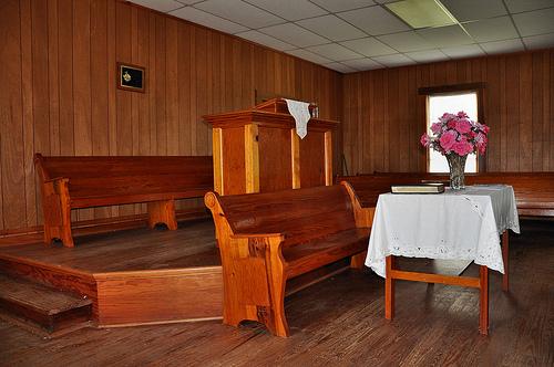 Lower Black Creek Baptist Church Antebellum Landmark 1859 Interior Pulpit Bryan County GA Picture Image Photograph © Brian Brown Vanishing South Georgia USA 2013
