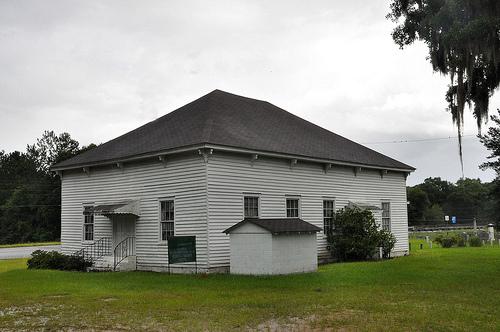 Lower Black Creek Baptist Church Antebellum Landmark 1859 Bryan County GA Picture Image Photograph © Brian Brown Vanishing South Georgia USA 2013