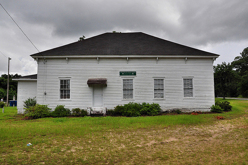 Bryan County GA Lower Black Creek Baptist Church Antebellum Landmark Vernacular Architecture 1859 Picture Image Photograph © Brian Brown Vanishing South Georgia USA 2013