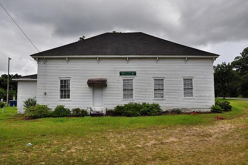Bryan County GA Lower Black Creek Baptist Church Antebellum Landmark Vernacular Architecture 1859 Picture Image Photograph © Brian Brown Vanishing South Georgia USA 2013