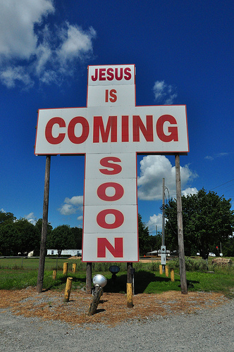 dudley-ga-roadside-religious-sign-cross-jesus-is-coming-soon-photograph-copyright-brian-brown-vanishing-south-georgia-usa-2013