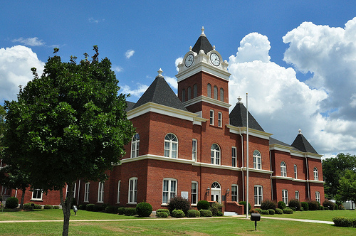 Jeffersonville GA Twiggs County Courthouse National Register of Historic Places Picture Image Photograph Copyright © Brian Brown Vanishing South Georgia USA 2013