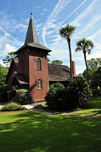 Jekyll Island GA National Historic Landmark District Faith Chapel Picture Image Photograph Copyright © Brian Brown Vanishing South Georgia USA 2013