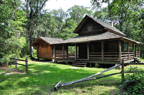 Oatland Island GA Heritage Homesite David Delk Gum Branch Liberty County 1835 Pioneer Farmhouse Reconstruction Relocated 1979 Picture Image Photograph Copyright © Brian Brown Vanishing South Georgia USA 2013