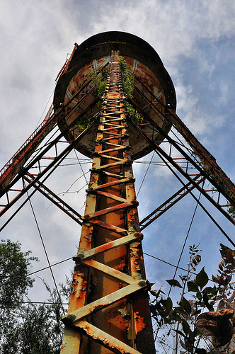 Oatland Island GA Old Water Tower Soon to be Removed Picture Image Photograph Copyright © Brian Brown Vanishing South Georgia USA 2013