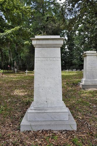 Richland Baptist Church Cemetery Twiggs County GA Historic Landmark Cast James Ware Headstone Photograph Copyright © Brian Brown Vanishing South Georgia USA 2013