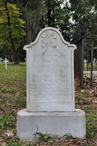 Richland Baptist Church Cemetery Twiggs County GA Historic Landma John Hodges Headstone Photograph Copyright © Brian Brown Vanishing South Georgia USA 2013