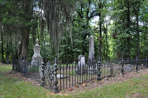 Richland Baptist Church Cemetery Twiggs County GA Historic Landmark Victorian Iron Fence Marble Obelisk Image Photograph Copyright Brian Brown Vanishing South Georgia USA 2013