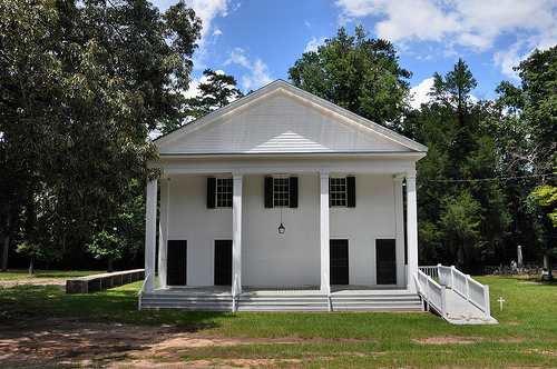 Richland Baptist Church Twiggs County GA Historic Landmark Greek Revival Antebellum Architecture Slave Gallery Shutter Windows Picture Image Photograph Copyright © Brian Brown Vanishing South Georgia USA 2013