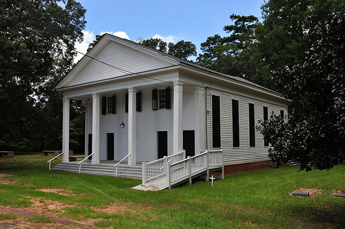 Richland Baptist Church Twiggs County GA Historic Landmark Greek Revival Antebellum Picture Image Photograph Copyright © Brian Brown Vanishing South Georgia USA 2013