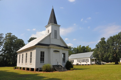 Antioch Primitive Baptist Church Louvale GA Stewart County Church Row Architectural Cultural Landmark Picture Image Photograph Copyright © Brian Brown Vanishing South Georgia USA 2013
