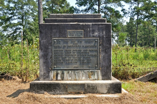Creek Indian Wars Battle of Shepperds Plantation Monument Stewart County GA Omaha DAR WPA Fort Ingersol Jones Fort McCreary Picture Image Photograph Copyright © Brian Brown Vanishing South Georgia USA 2013