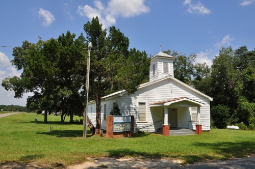 First Elizabeth Baptist Church Grooverville GA Brooks County Picture Image Photograph Copyright © Brian Brown Vanishing South Georgia USA 2013
