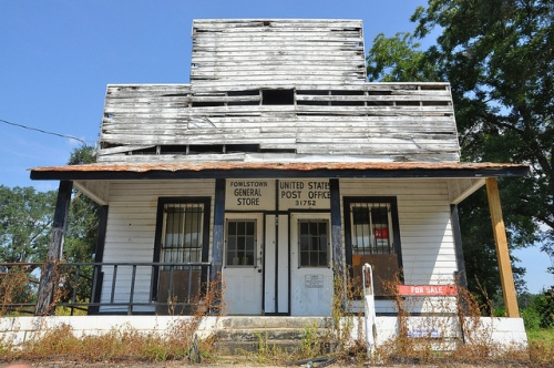 Fowlstown GA Decatur County General Store Post Office Abandoned False Front Picture Image Photograph Copyright © Brian Brown Vanishing South Georgia USA 2013