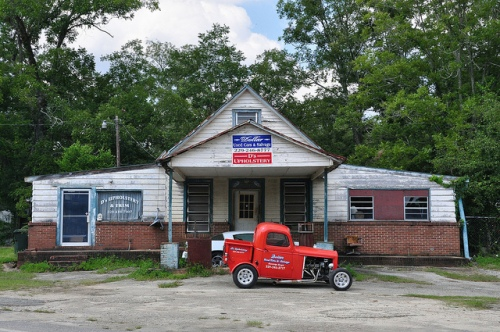 Fowlstown GA Decatur County Old Store Dollars Upholstery Hot Rod Truck Picture Image Photograph Copyright © Brian Brown Vanishing South Georgia USA 2013