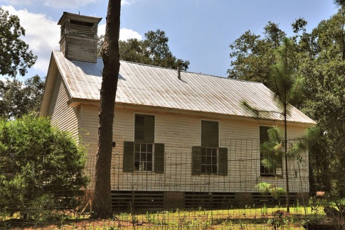 Historic Grooverville Methodist Church Endangered Antebellum Landmark Brooks County Photograph Copyright Brian Brown Vanishing South Georgia USA 2016