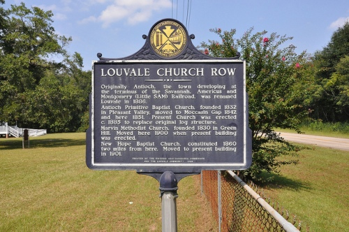 Louvale Church Row Historic Marker Stewart County GA Picture Image Photograph Copyright © Brian Brown Vanishing South Georgia USA 2013