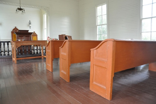 Marvin Methodist Church Louvale GA Stewart County Church Row Architectural Landmark Interior Sanctuary Wooden Pews Picture Image Photograph Copyright © Brian Brown Vanishing South Georgia USA 2013