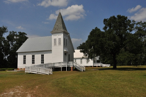 Marvin Methodist Church Louvale GA Stewart County Church Row Architectural Landmark Picture Image Photograph Copyright © Brian Brown Vanishing South Georgia USA 2013