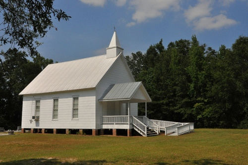 New Hope Baptist Church Louvale GA Stewart County Church Row Active Congregation Picture Image Photograph Copyright © Brian Brown Vanishing South Georgia USA 2013